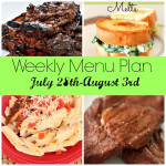 Weekly Menu Plan July 28th-August 3rd