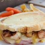 Chicken Cordon Bleu Grilled Sandwich