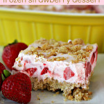 Fluffy Frozen Strawberry Dessert SixSistersStuff