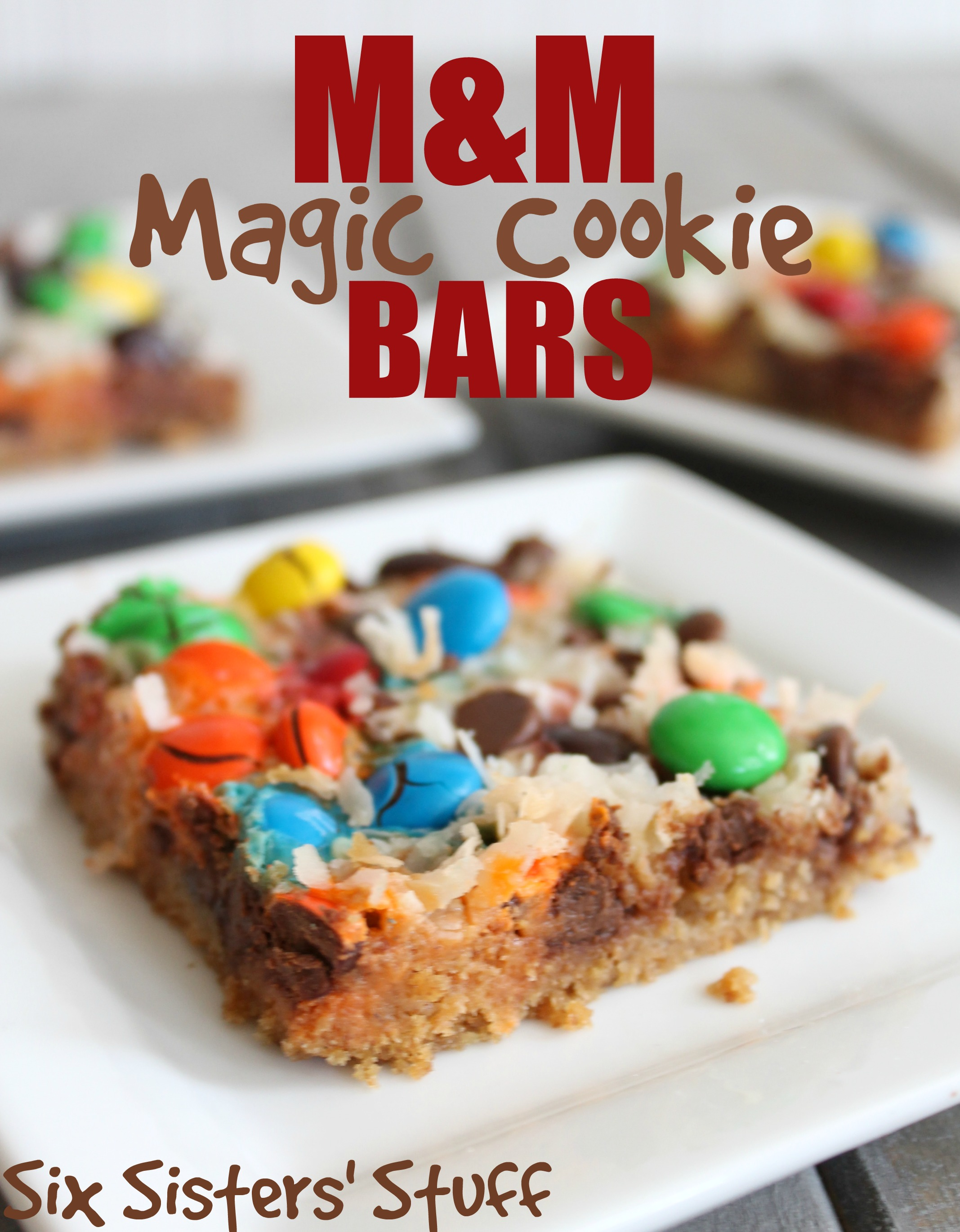 M&M Magic Cookie Bars