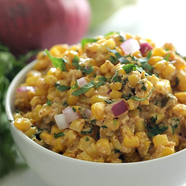Mexican Street Corn Salad - SixSistersStuff
