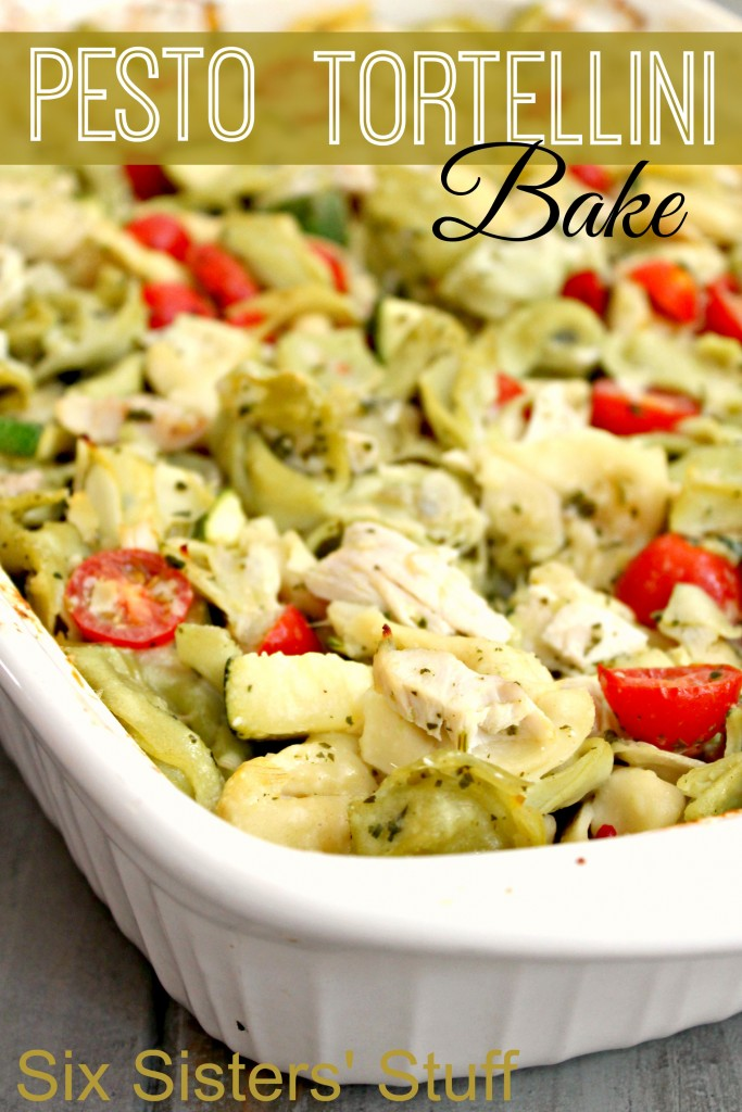 Pesto Tortellini Bake   16 Delish Tortellini Recipes