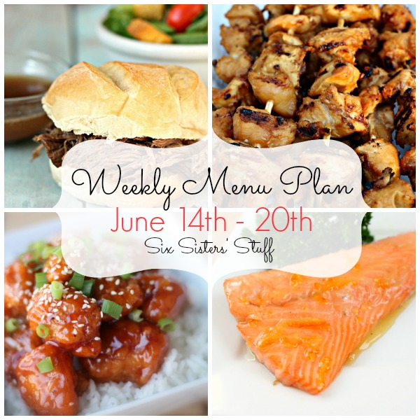 Weekly Menu Plan July 14-20