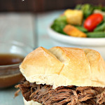 Slow Cooker Au Jus Sandwiches Recipe Six Sisters Stuff