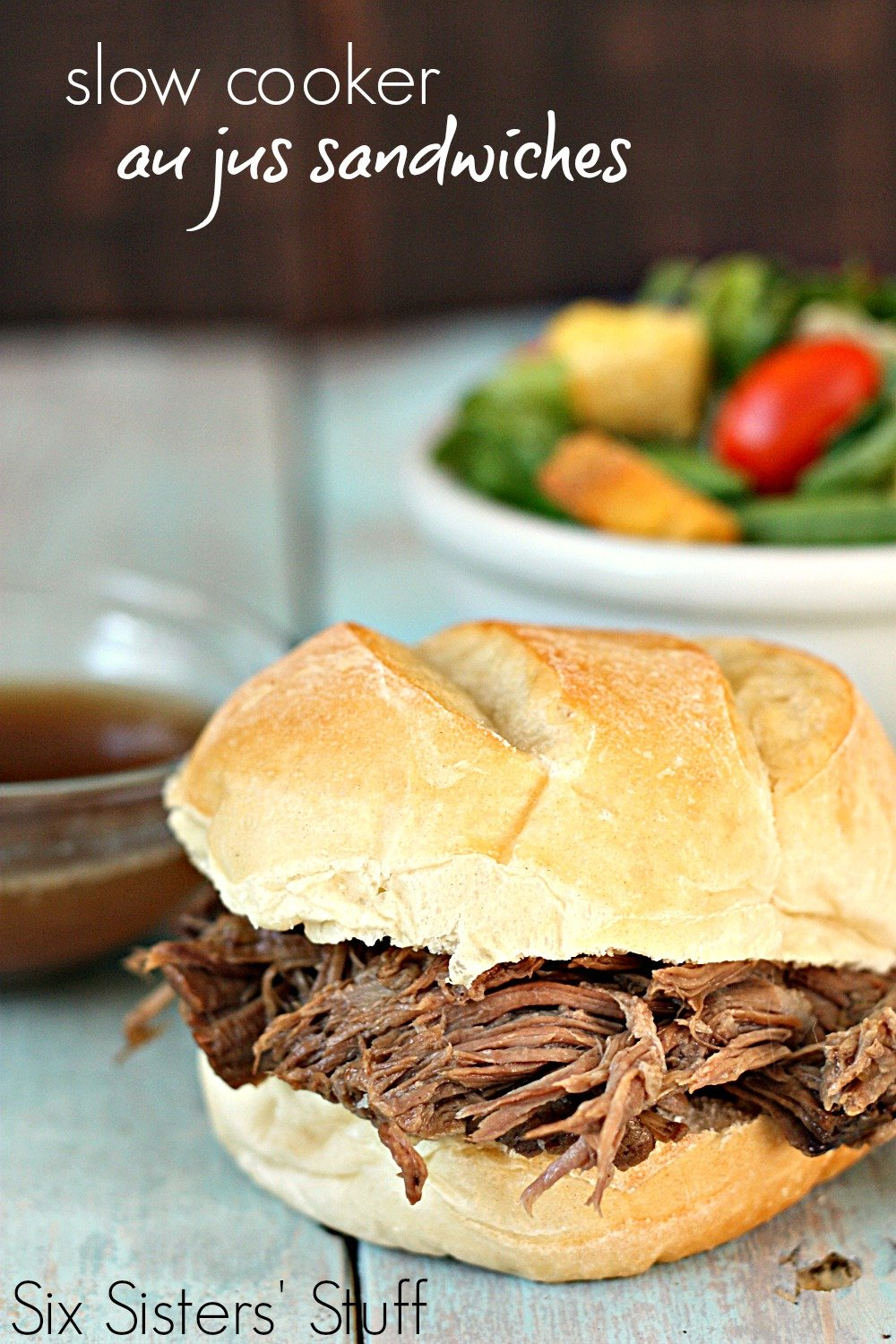 Slow Cooker Au Jus Beef Sandwiches Recipe
