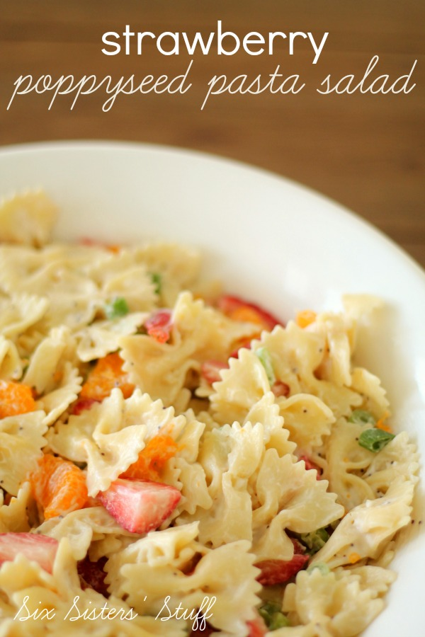 Strawberry Poppyseed Pasta Salad Recipe