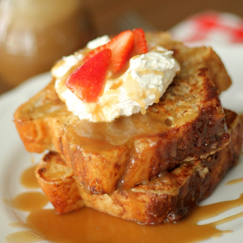 Homemade Kneaders Chunky Cinnamon French Toast And Caramel