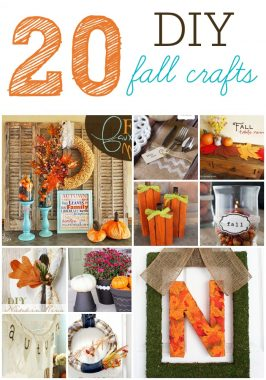 20 DIY Fall Craft Projects