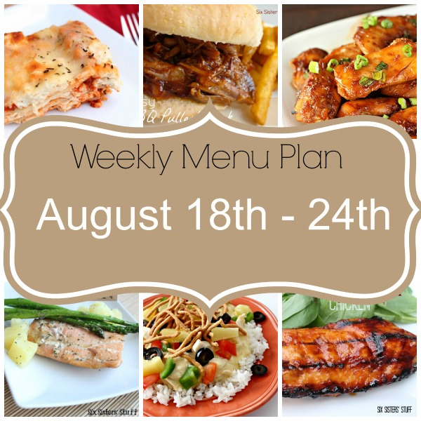 Weekly Menu Plan August 18th-24th