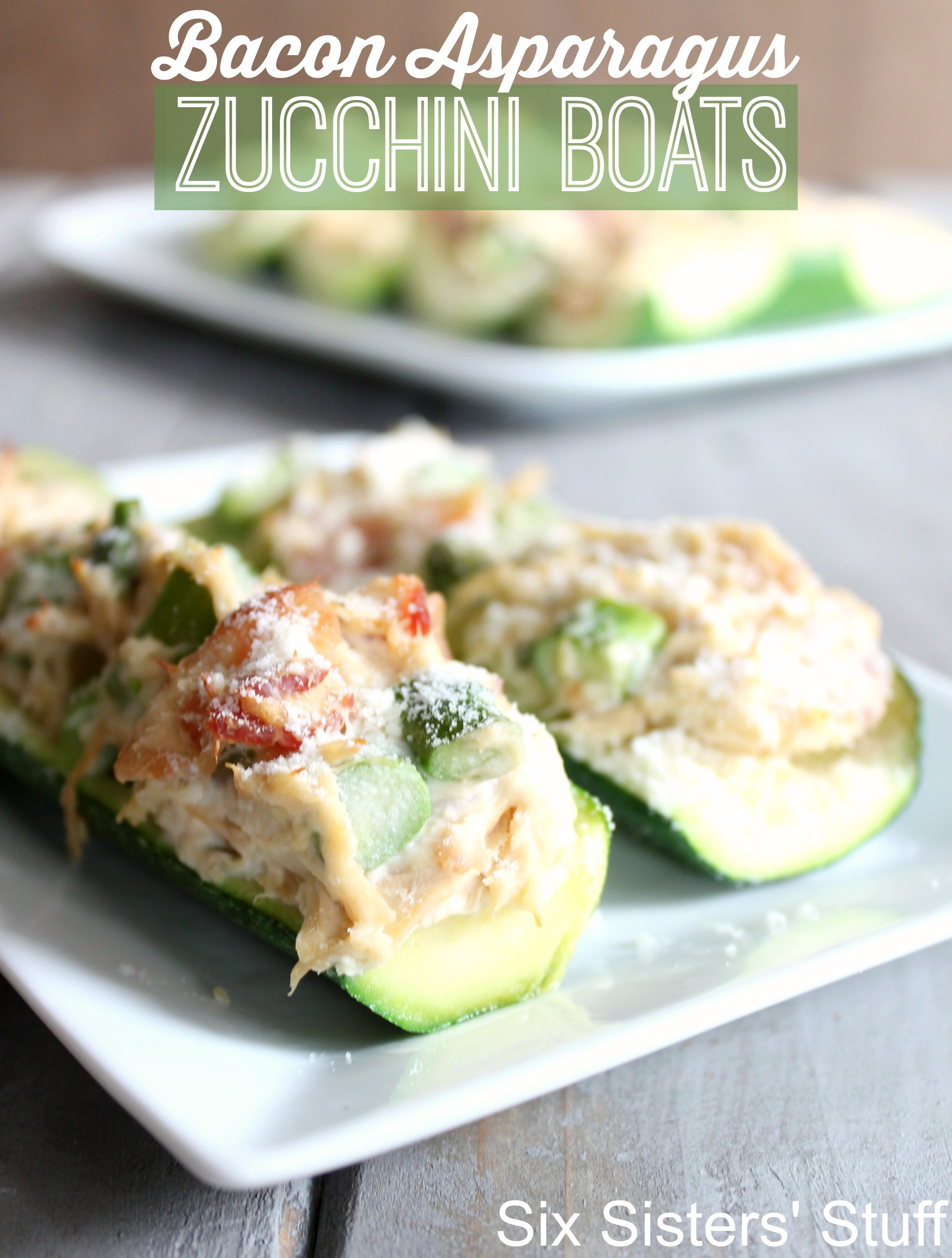 Bacon Asparagus Zucchini Boats
