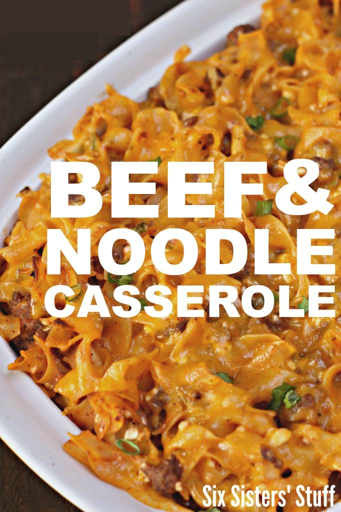 easy casserole recipe  - beef and noodle casserole