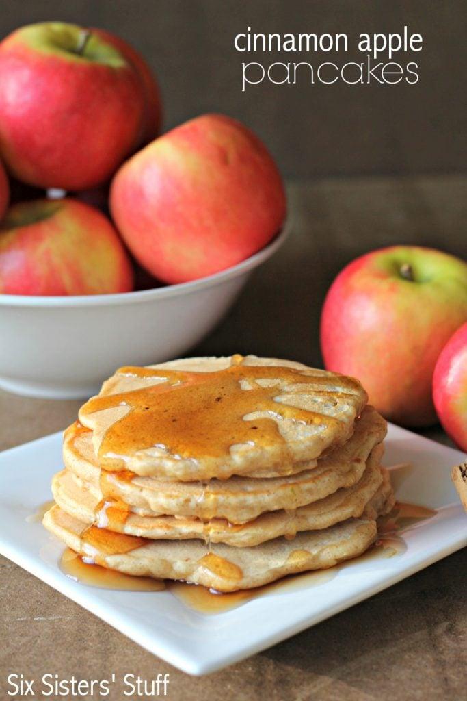 cinnamon apple pancakes that can be frozen