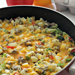 Egg Potato and Sausage Skillet Recipe SixSistersStuff