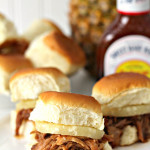 Hawaiian BBQ Pork Sliders Sandwiches Recipe SixSistersStuff
