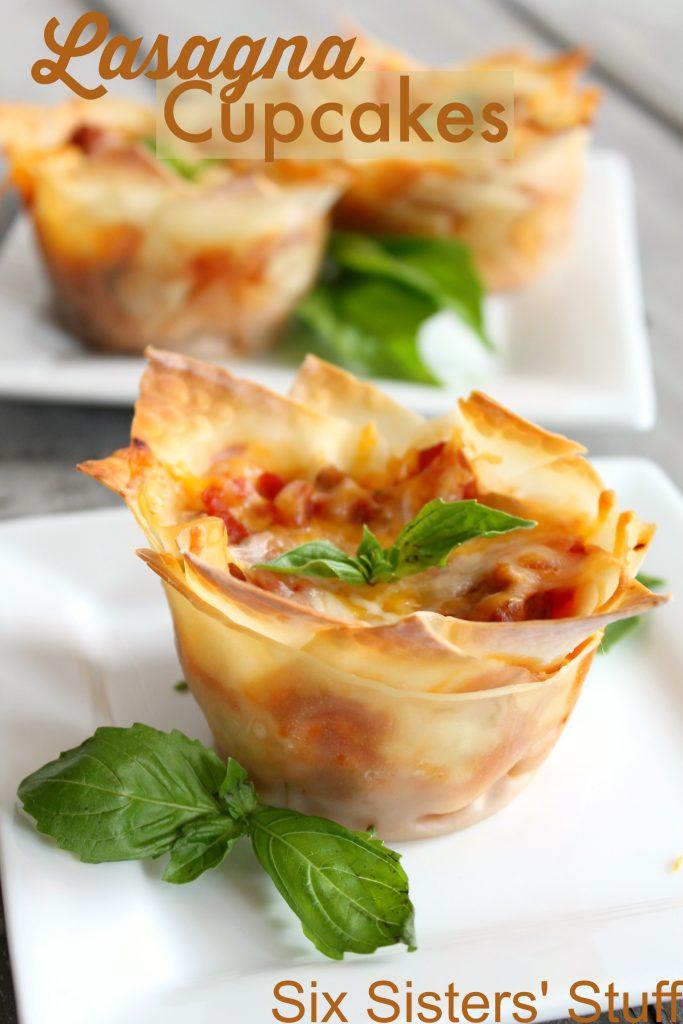 Easy Lasagna Cupcakes – Six Sisters' Stuff
