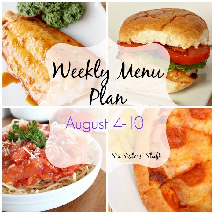 Weekly Menu Plan August 4-10