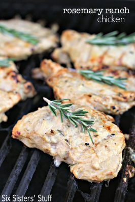 Rosemary Ranch Grilled Chicken Recipe SixSistersStuff