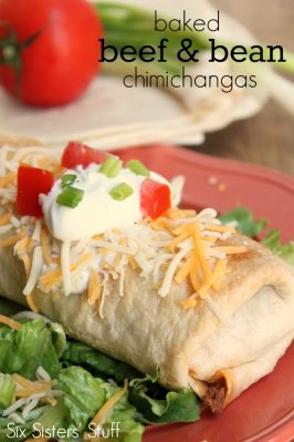 Baked Beef & Bean Chimichangas Recipe