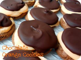 Chocolate Orange Cake Mix Cookies with Ganache Topping