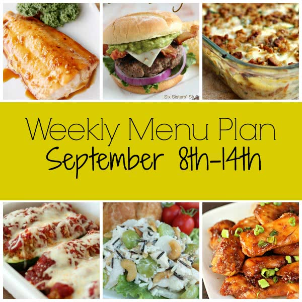 Weekly Menu Plan – September 8th-14th