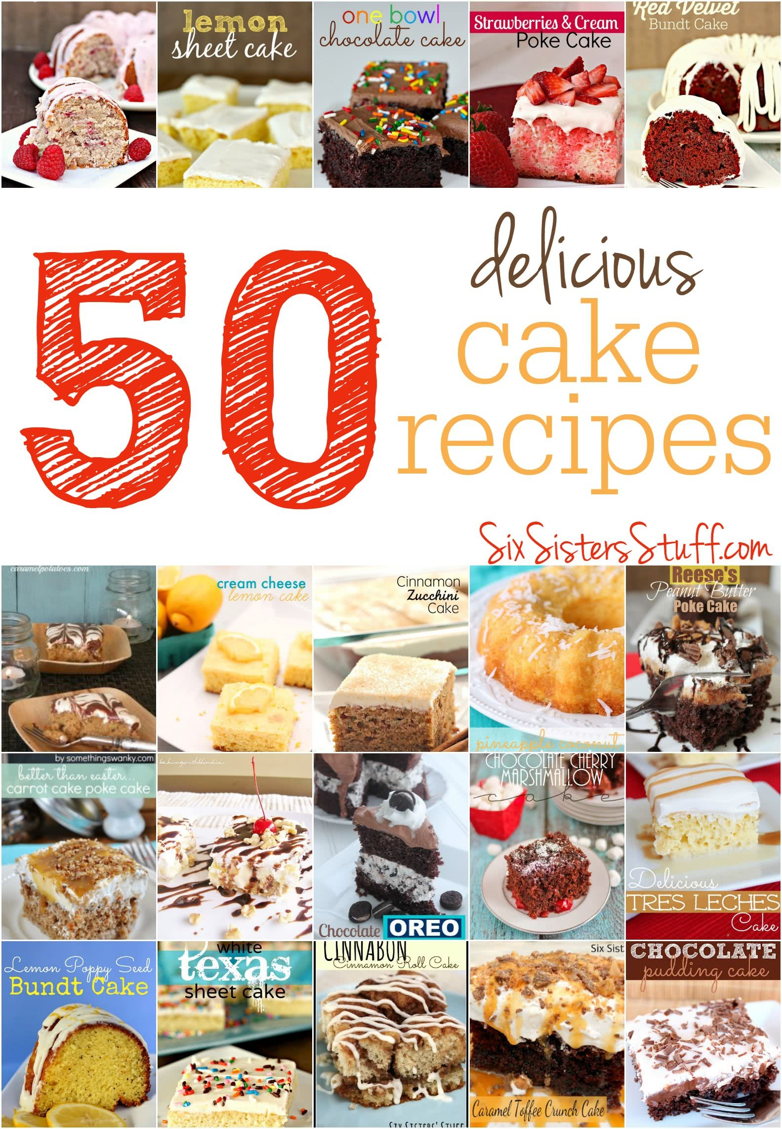 50 Delicious Cake Recipes