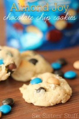 Almond Joy Chocolate Chip Cookies Recipe