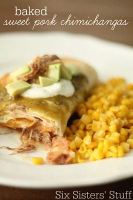 Baked Sweet Pork Chimichanga Recipe