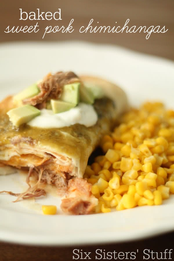 Baked-Sweet-Pork-Chimichangas-Recipe