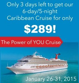 The Power of You Cruise- only $289! (6 Day/5 Night Caribbean Cruise)