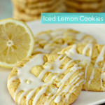 Iced Lemon Cookies Recipe on SixSistersStuff