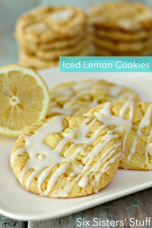 Iced Lemon Cookies Recipe on SixSistersStuff
