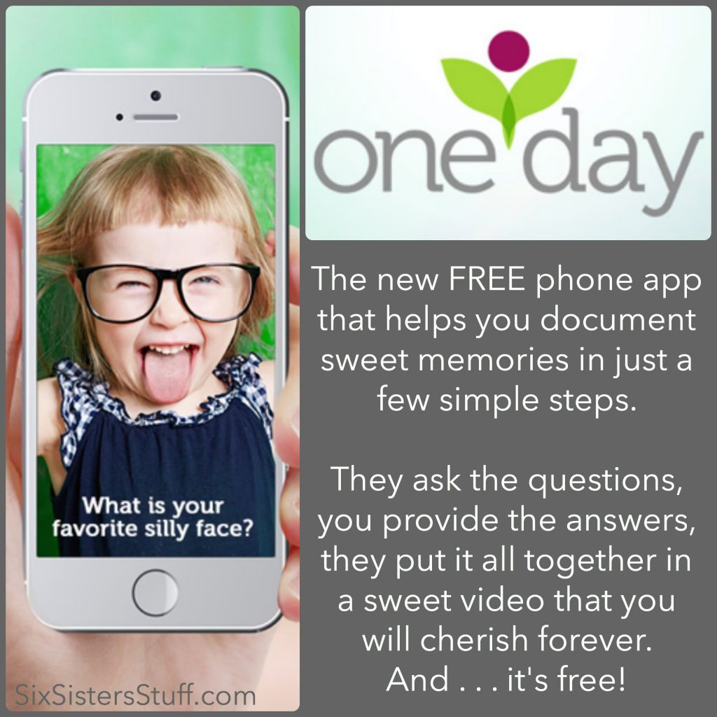 Oneday App The Best Free App For Parents Video Memories Made Easy