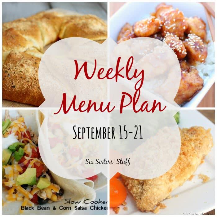 Weekly Menu Plan September 15-21