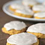 Soft Pumpkin Cookies with Cinnamon Buttercream Frosting SixSistersStuff