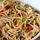 Spaghetti Salad Recipe on SixSistersStuff