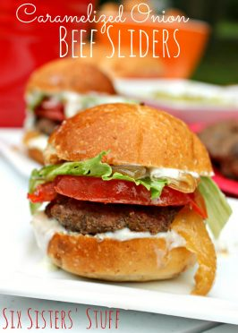 Caramelized Onion Beef Sliders Recipe