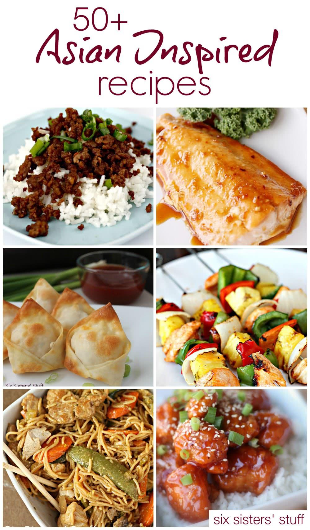 50+ Asian Inspired Recipes