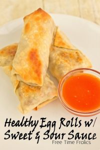 eggrolls and sweet and sour sauce