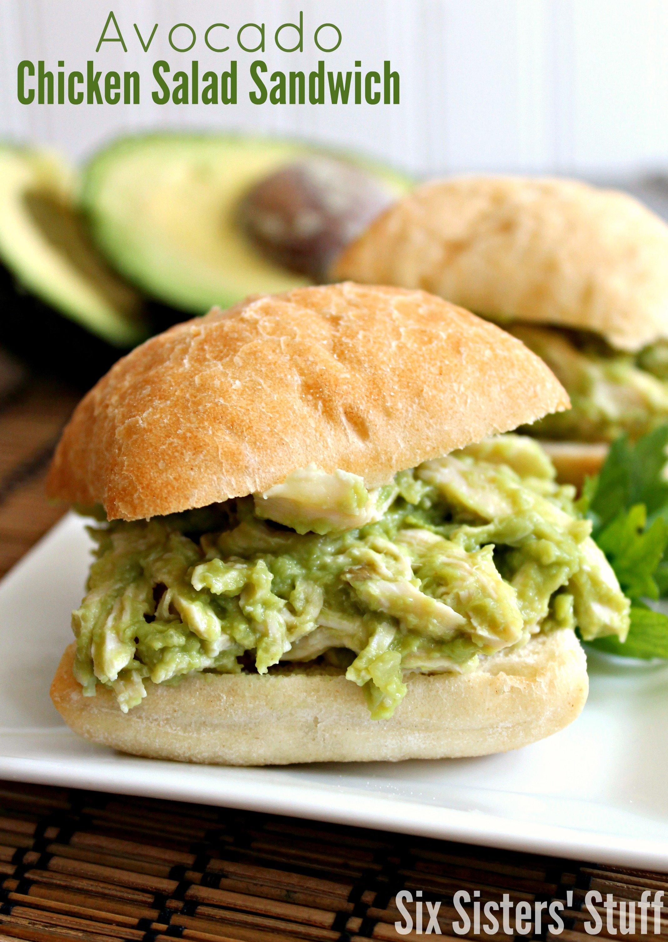 Avocado Chicken Salad Sandwiches Recipe