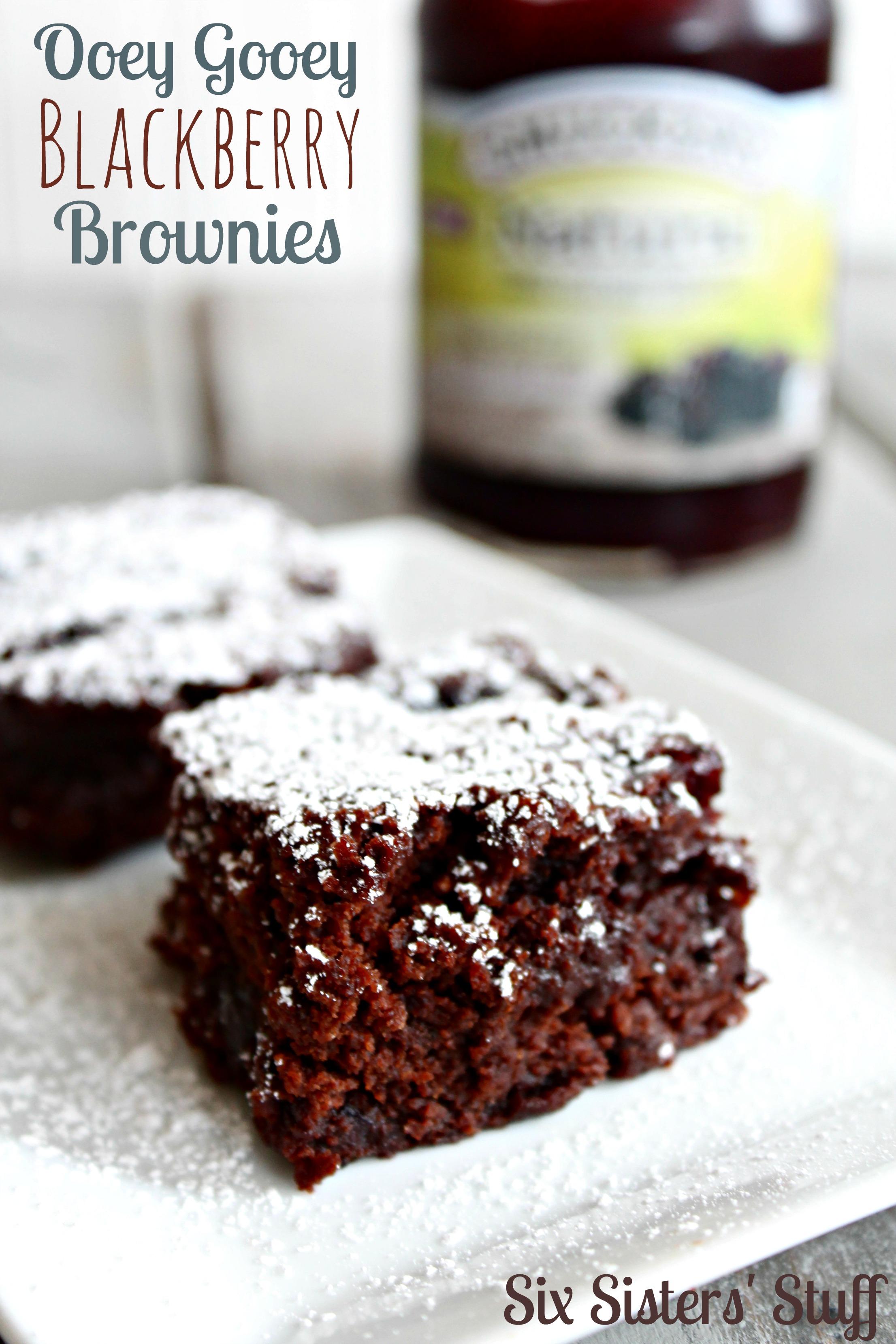 Ooey Gooey Blackberry Brownies