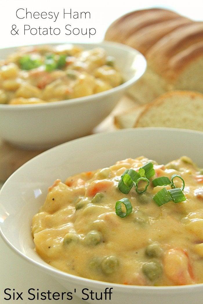 Cheesy Ham and Potato Soup Recipe