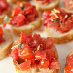 Fresh Tomato Bruschetta SixSistersStuff