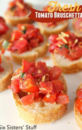 how to make bruschetta with fresh tomatoes