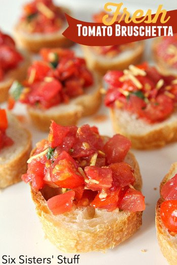 how to make bruschetta with fresh tomatoes