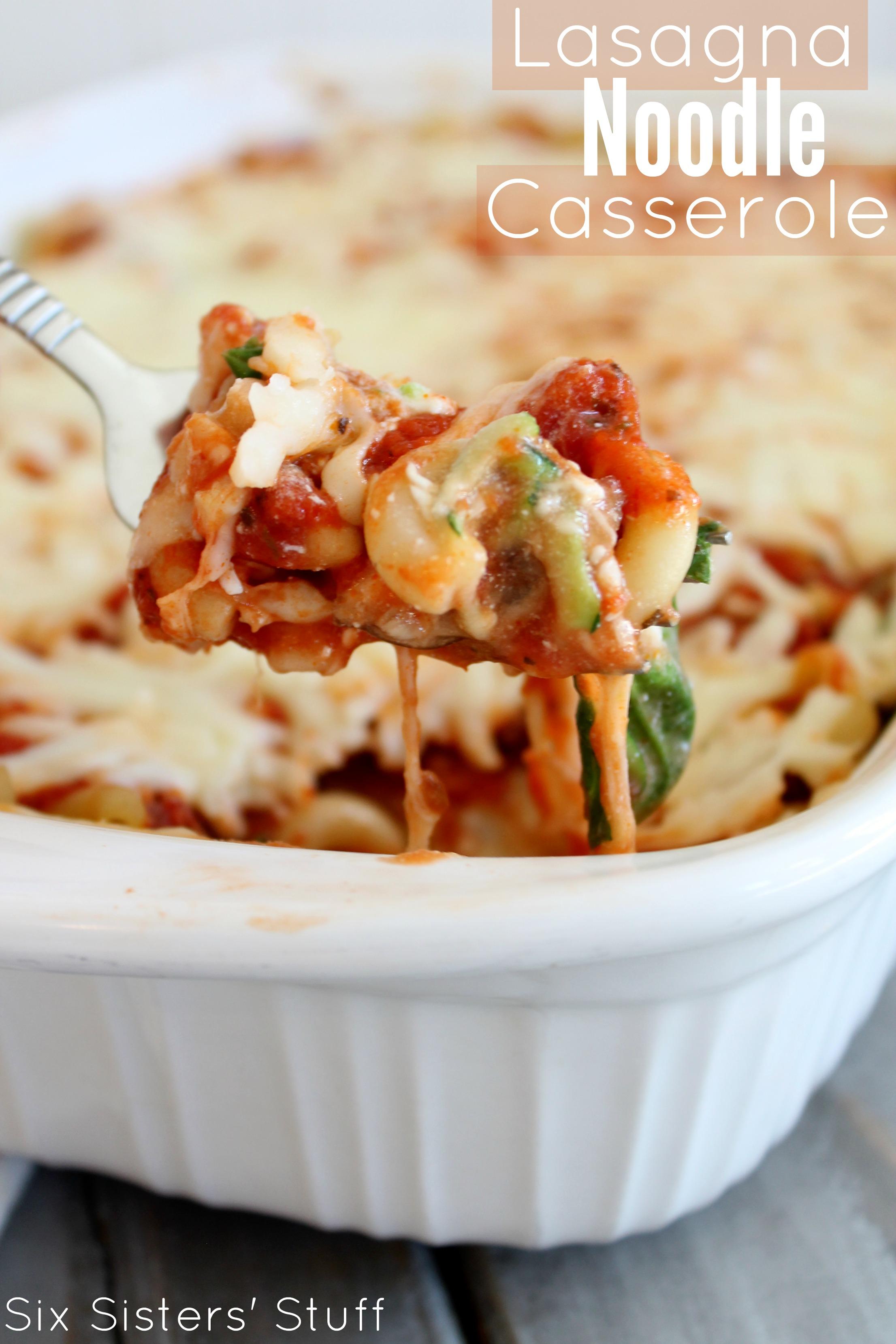 Lasagna Noodle Casserole