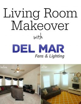 Living Room Makeover with Del Mar Fans