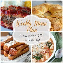 Weekly Menu Plan November 3-9