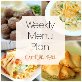 Weekly Menu Plan October 13-19