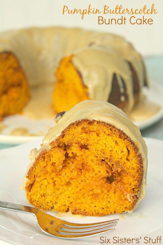 Pumpkin Butterscotch Bundt Cake Recipe SixSistersStuff