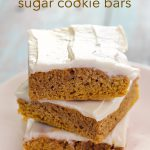 Pumpkin Sugar Cookie Bars Recipe SixSistersStuff